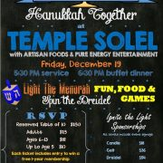 Temple Solel's annual Hanukkah celebration set for Dec. 19th